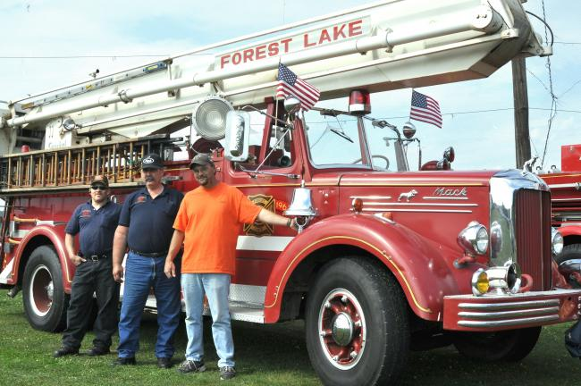 DONALD R. SERFASS/TIMES NEWS The 1951 L85 Mack combination pumper and snorkel truck on display at Sunday's Tamaqua Street Machine Association car show is the only one of its kind remaining in the world. The truck is owned by the Schuylkill…