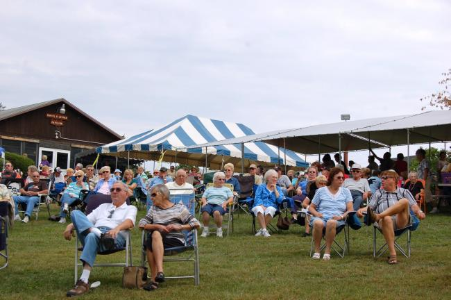 GAIL MAHOLICK/Times News Franklin Township seniors take in some of the entertainment at the Franklin Township Lions Picnic in the Park.
