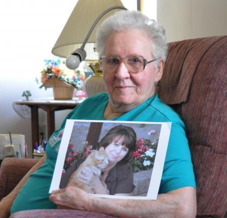 DONALD R. SERFASS/TIMES NEWS  Helen Arnold Correll, Tamaqua, is the mother of Lori Reinert. She says Lori has had medical issues since she was two years old, but nobody realized that Lori had only one functioning kidney.