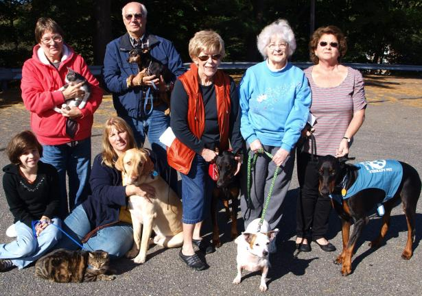 ANDREW LEIBENGUTH/SPECIAL TO THE TIMES NEWS Pastor Michael Frost of the Zion's Stone Church of West Penn Township in New Ringgold held the 4th annual Blessing of the Animals Service recently to celebrate the relationship between humans and their…