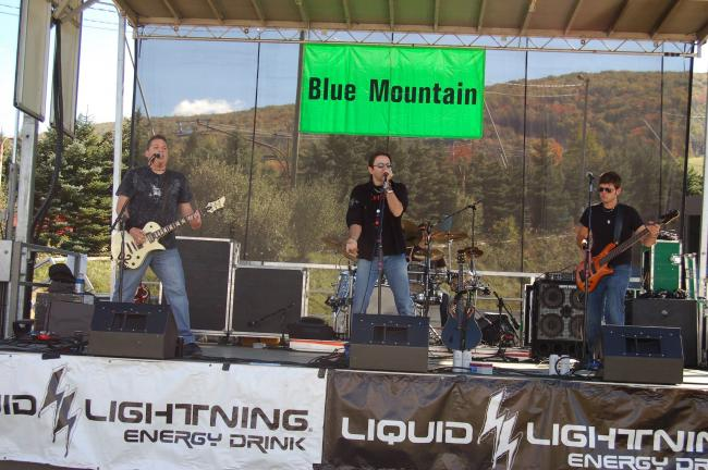 TERRY AHNER/TIMES NEWS Members of The Job perform Saturday during the Rock the Fall Festival at Blue Mountain Ski Area.