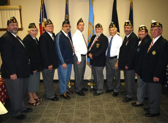 ANDREW LEIBENGUTH/SPECIAL TO THE TIMES NEWS The Coaldale Gewehr-Shubeck-Martin-Nesterak American Legion Post 170 held their Installation of Officers ceremony at their post recently.Officers pictured from left are Coaldale Post Adjutant Jim Rickert,…