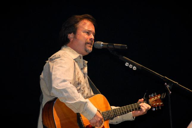 Ron Gower/TIMES NEWS Larry Stewart of the band Restless Heart sings during concert Saturday at Penn's Peak.
