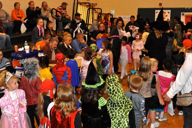 "VICTOR IZZO/SPECIAL TO THE TIMES NEWS Kindergarten and first grade students participated in a costume contest during the Penn Kidder PTA's Seventh ""Annual Fall Festival""."