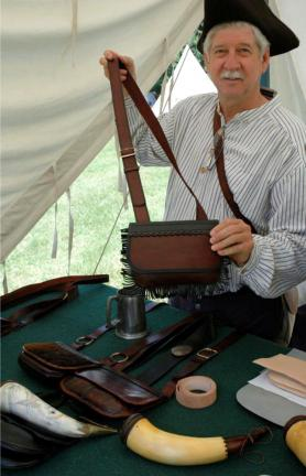 Examples of pouches and powder horns used during the fur trade era, America's period of empire building. The Fur Trade Rendezvous Reenactment Weekend takes place on Saturday, Oct. 30 and Sunday, Oct. 31 at Jacobsburg State Park.