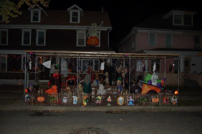 TERRY AHNER/TIMES NEWS This house in the 400 block of Franklin Avenue in Palmerton clearly went all out for Halloween. Trick-or-Treat night was held Wednesday in the borough.