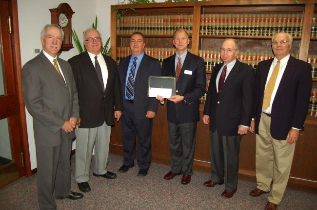 JOE PLASKO/TIMES NEWS The Tamaqua Blue Raider Foundation received a donation of $1,000 from the Wachovia Wells Fargo Foundation in support of projects that benefit the Tamaqua Area School District. Participating in the presentation were, from left,…