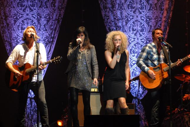 Ron Gower/TIMES NEWS Little Big Town performs at Penn's Peak, Thursday, before a large crowd.
