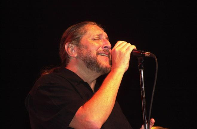 Ron Gower/TIMES NEWS FILE PHOTO Lead singer Doug Gray, an only original member of The Marshall Tucker Band, sings during a previous concert at Penn's Peak in Jim Thorpe. The Marshall Tucker Band is returning for a concert at 8 p.m. Saturday.