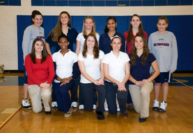 Bob Ford/TIMES NEWS Jim Thorpe girls basketball team members for the 2010-11 season include, front from left, Chasity Mosteller, Celeste Robinson, Brittany Holland, Alexandria Ventrella, Chelsea Smelas; back, manager Kayley Kovac, Catherine Condly,…