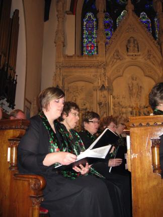 @$:STACEY SOLT/SPECIAL TO THE TIMES NEWS Members of the Bach and Handel Chorale perform during their annual Christmas Concert at St. Mark's Church in Jim Thorpe. The chorale will offer two more concerts this season on Dec. 11 in Ringtown and Dec. 12…