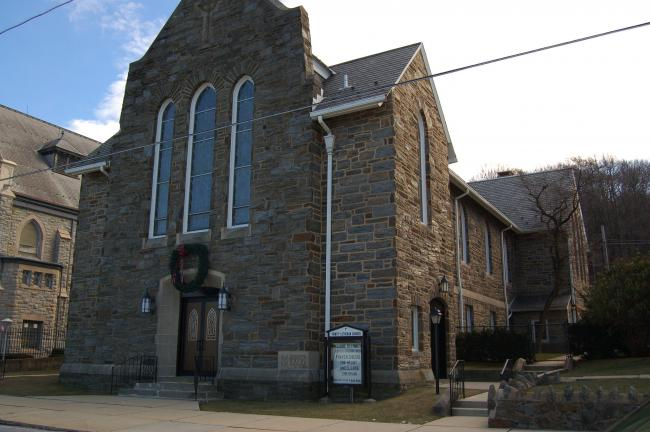 CHRIS PARKER/TIMES NEWS The Lansford Shepherd House Food Pantry is now at Trinity Lutheran Church, 104 East Abbott Street in Lansford.