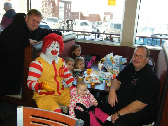 CAROL ZICKLER/SPECIAL TO THE TIMES NEWS Kids Day was held at McDonald's in Nesquehoning for all children up to the age of 18. Free happy Meals were given as well as book bags, cups, and bags with toothbrushes, toothpaste and candy and so forth…