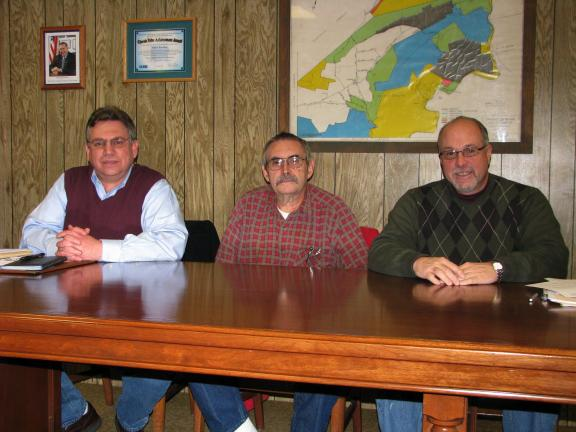 LIZ PINKEY/SPECIAL TO THE TIMES NEWS The Walker Township board of supervisors, from left, include William McMullen, vice chairman, David Price and Craig Wagner, chairman.