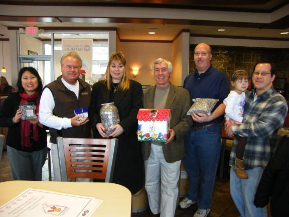 CAROL ZICKLER/SPECIAL TO THE TIMES NEWS Recently radio station WMGH spread a little post-holiday cheer while helping out Ronald McDonald House Charities of Northeast PA and the Danville Ronald McDonald House. Seen are Kerry Dowd of WMGH; Scott…