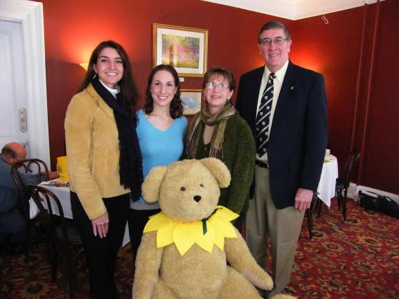 CAROL ZICKLER/SPECIAL TO THE TIMES NEWS The speakers at a recent American Cancer Society's Carbon Tamaqua Unit Daffodil Days Kick-off held at the Albright Mansion in Jim Thorpe were, left to right, Wendy Stickler, a cancer survivor and community in…