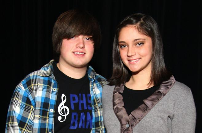 SPECIAL TO THE TIMES NEWS Billy Heinick (band) and Lydia Anthony (chorus) of Palmerton Area High School have been selected to participate in the PMEA District 10 band and chorus concerts.