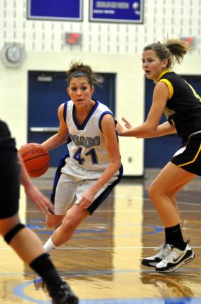 mike feifel/times news filephoto Nicole Kregeloh and the Pleasant Valley girls basketball team have already surpassed their win total from a year ago.
