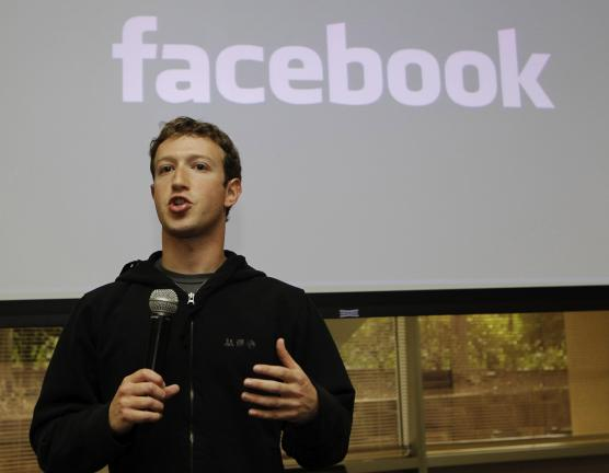 FILE - In this May, 26, 2010 file photo, Facebook CEO Mark Zuckerberg talks about the social network site's new privacy settings in Palo Alto, Calif. Dr. Ed Zuckerberg, father of Mark Zuckerberg, said in a radio interview Friday, Feb. 4, 2011, that…