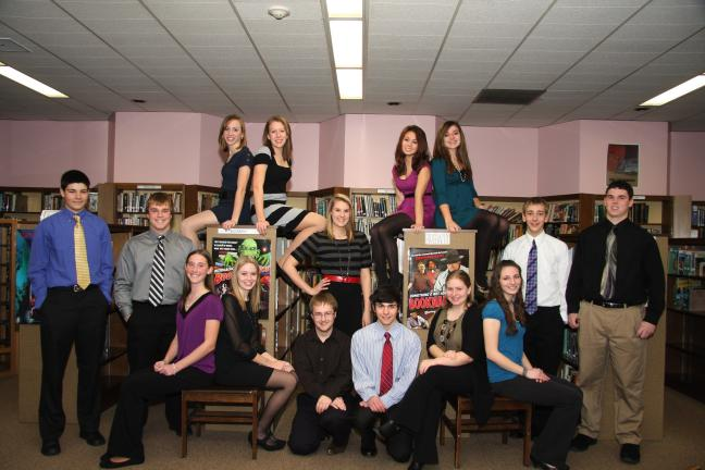 Special to the TIMES NEWS Pictured are the 15 Palmerton Area High School students who were recently inducted into the National Honor Society.