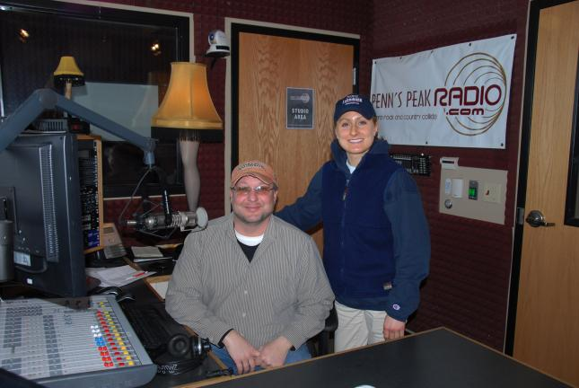 "Ron Gower/TIMES NEWS Layne ""The Doc"" Roberts and Leah Holmes will be hosting the ""Doc & Leah with the Daily Bump and Grind"" on Penn's Peak Radio. The show, which debuts Monday, airs 9 am. to 1 p.m."