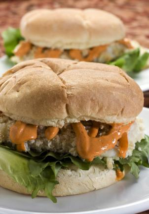 "AP Photo/Larry Crowe Slathered with a taste of Thailand this ""Fried"" Haddock Sandwich with Thai Red Curry Mayonnaise uses simple techniques and bold flavor in a quick to make meal."