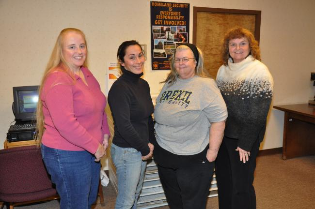 AMY MILLER/TIMES NEWS New officers of the Carbon County Animal Response Team are, from left, Carleen Ladden, president; Kelly Hook, vice president; Diane Sharpless, secretary; and Pat Bach, treasurer. The Carbon CART team is a group of volunteers…