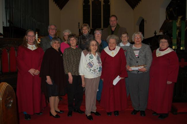 Gail Maholick/TIMES NEWS Participating in the World Day of Prayer service at All Saint's Episcopal Church, Lehighton, were, front from left, Pat Cook, Mable Fritz, Josephine Rhyder, Pat Strohl, Joan Mertz, Mary Kay Levendusky; back, Barry Shupp,…