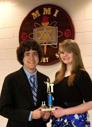 Roderick Cook, left, and Antonia Diener will compete in the National Catholic Forensic League Grand National Tournament in Washington, D.C., in May.