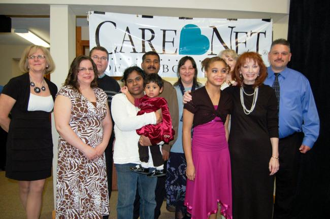 Gail Maholick/TIMES NEWS CareNet of Carbon County recently held its 10th annual banquet. During the banquet. From left are, Debbie Balch, administrative assistant; Yvonne and Lloyd Stoudt, volunteers; Tharshini, Praiselynn and Roy Philip-Chandra…
