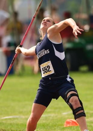 bob ford/times news filephoto Ali Updike of Tamaqua throws the javelin at the 2009 PIAA State Championships. Updike was just a few months removed from an ACL injury to left knee at the time and was wearing a protective brace. Earlier this week…