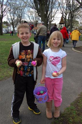 Dylan Bowman and Taylor Bowman took part in the Weissport Easter egg hunt.