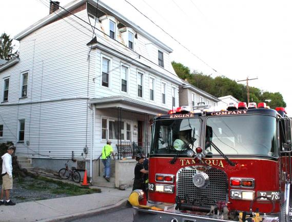 Quick response by firefighters saved this Tamaqua home.