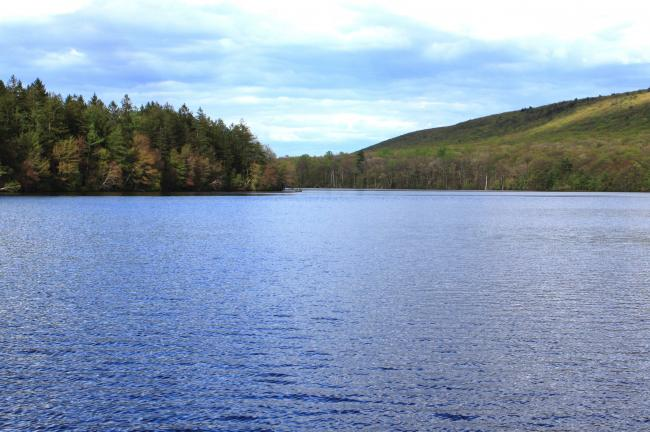 ANDREW LEIBENGUTH/SPECIAL TO THE TIMES NEWS The Owl Creek Reservoir in Tamaqua will be completely drained of water so contractors can do necessary repairs to the dam required by PADEP guidlines.