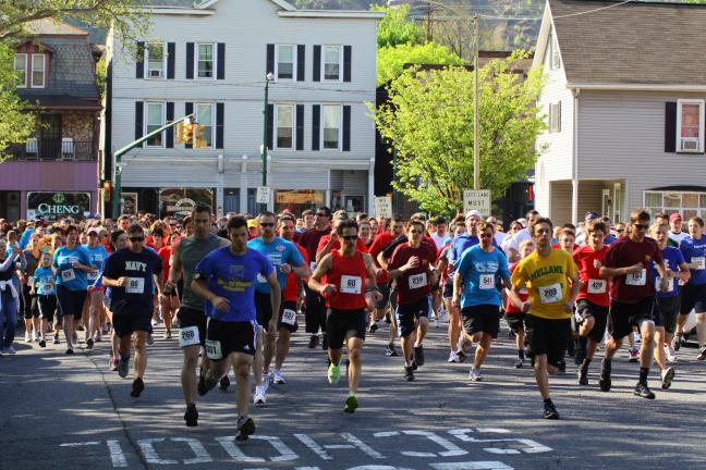 Special to the TIMES NEWS And they're off! Participants take off at the starting line as they prepare to run in the 10th annual Blue Mountain Health System 5K run/walk held recently in Palmerton.