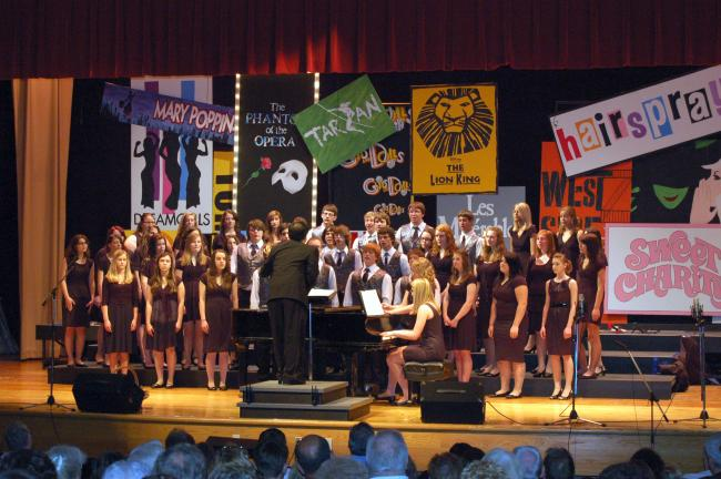 "Gail Maholick/TIMES NEWS Lehighton Area High School presents 94th annual Spring Choral Concert. Concert Choir is singing ""Not When I'm Around."""