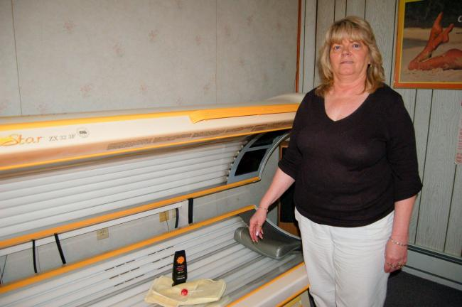 Island Breeze Tanning Salon owner, Jean Reabold has been in business for 15 years.