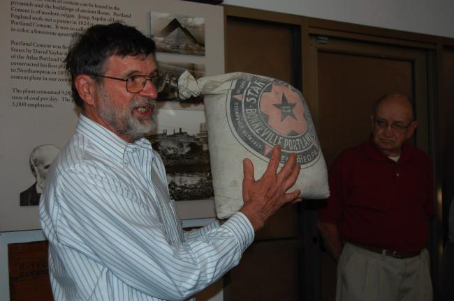 Curator Ed Pany of the Atlas Cement Museum