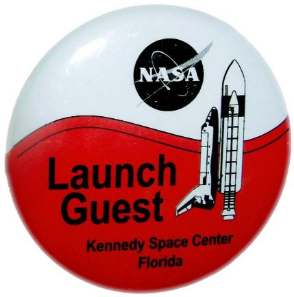Launch Guest pin for NASA Kennedy Space Center VIP section.