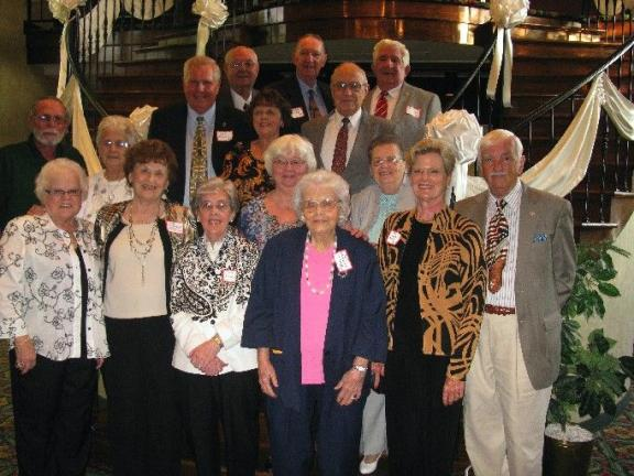 ABOVE LEFT: The Coaldale High School Alumni Reunion was held Saturday, May 28, at Genetti's Best Western, Hazleton. Members of the reunion planning committee and award winners are, from left: First row: Mildred (Pascoe) Gaddes, 1951; Olga …