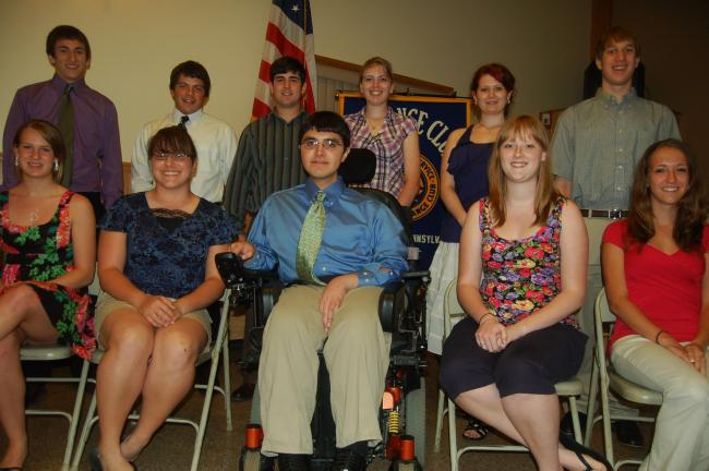 TERRY AHNER/TIMES NEWS Palmerton Area High School students recognized at the Class of 2011 Top Ten Percent Dinner sponsored recently by the Palmerton Exchange Club were (front row, l-r) Kristen Romano, Amber Hettler, Derek Szena, Jordan Ruzicka,…