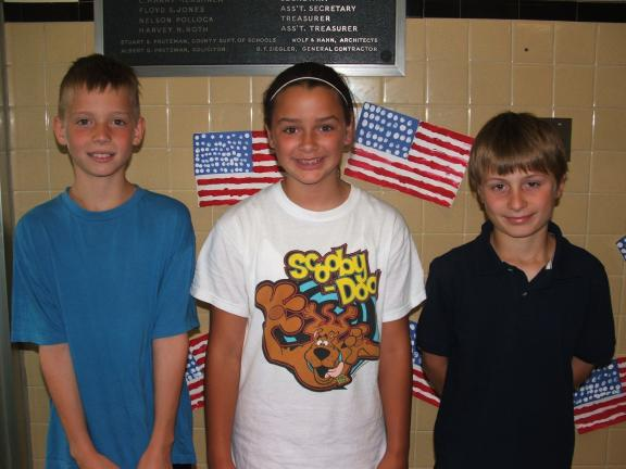Michael A. Heery/Special to the Times News Good Citizenship Award recipients at East Penn Elementary include Shawn Cope, Emily Kleintop, and Logan Pagotto.