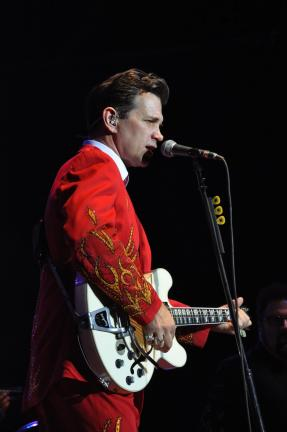 Ron Gower/TIMES NEWS Chris Isaak performs at Penn's Peak in Jim Thorpe, giving an incredible show that consisted of ballads, up-tempo songs, and some covers from the 60s and 70s.
