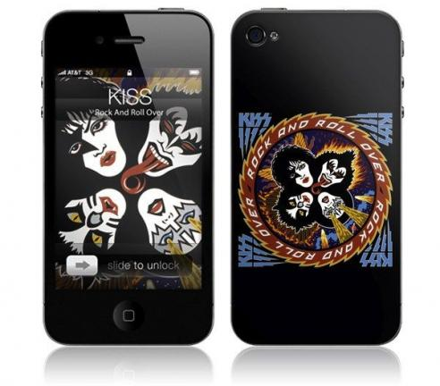 This product image courtesy of MusicSkins shows the KISS music skin for an iPhone. Pipe and slippers? Today's dad is more likely to be trail biking with the kids, downloading sports apps or jamming with his own weekend band. So this Father's Day,…