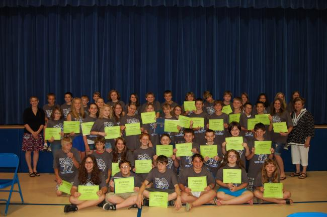 LINDA KOEHLER/TIMES NEWS The 2011 Towamensing Elementary School sixth grade graduates.