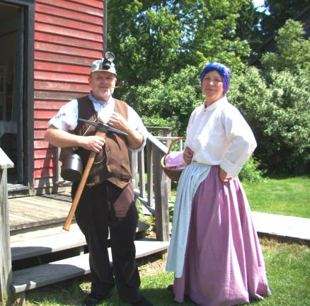 Bob Vybrenner, Tamaqua, and Mary Theresa Belusko, Eckley, volunteer in support of Eckley Miners Village, a living museum operated by the Pennsylvania Historical and Museum Commission.