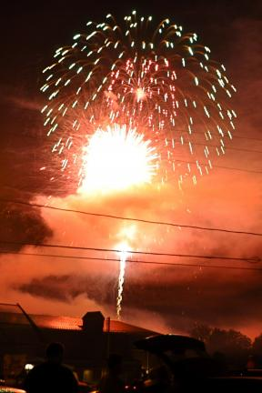 Victor Izzo/special to the times news Saturday's eye-popping fireworks were a highlight of the two-day Jim Thorpe Annual Stay-At-Home Festival at Memorial Park.