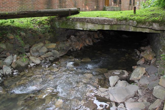ANDREW LEIBENGUTH/TIMES NEWS The Wabash Creek is exposed behind the Tamaqua Library for about 60 feet.