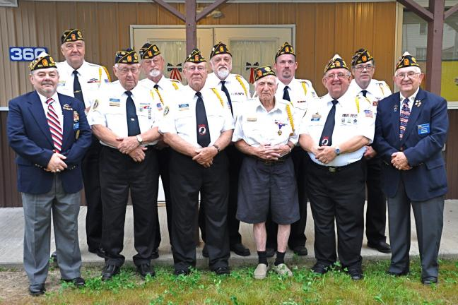 VICTOR IZZO/SPECIAL TO THE TIMES NEWS Weatherly American Legion Post 360 and Auxiliary held its installation of officers for the upcoming year along with Post 383 of Beaver Meadows at the Post 360 Legion Home in Weatherly. Newly installed officers…