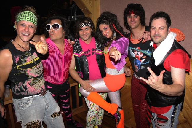 ANDREW LEIBENGUTH/TIMES NEWS Rubix Kube band members from left are Scott Lovelady, Eric Presti, Sky, Cherie Martorana, Drew Mortali and John LaSpina.
